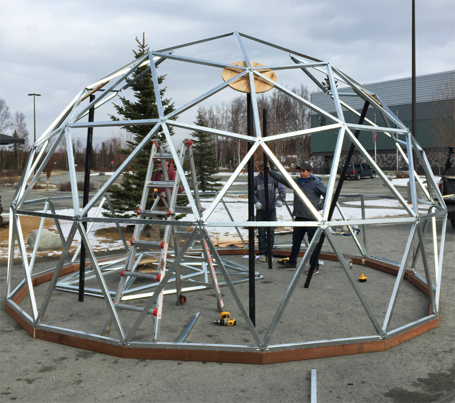 Dome Home Kits And Plans: 14 Foot Diameter Precision Machined Geodome Kit